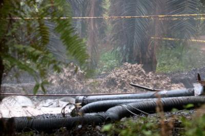 Reportan nuevo afloramiento de crudo en la Lizama, Santander