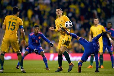 Colombia no pudo quebrar la defensa australiana e igualó sin goles