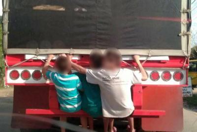 Menor en Bucaramanga resultó con graves heridas tras cometer una imprudencia en la vía
