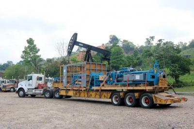 Llegó de Estados Unidos a Santander la maquinaria que sellará el pozo 158 de la Lizama