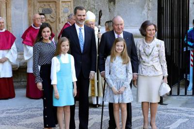 En video quedó registrado el tenso momento entre la reina Letizia y su suegra