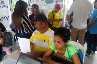 ¿Qué pasó en el primer día de censo para venezolanos en Bucaramanga?