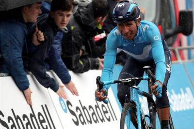 Nairo Quintana, en el top cinco de la Vuelta al País Vasco