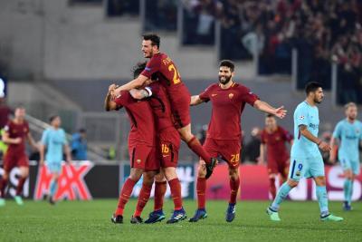 Roma obró el milagro y eliminó al Barcelona