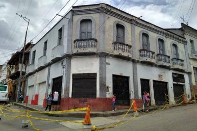 Fachada histórica en riesgo de colapso en la capital comunera