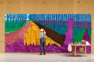 Hockney en constante evolución
