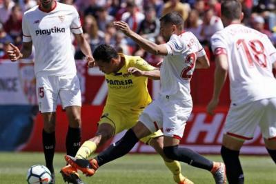 Bacca anotó en el empate del Villareal contra el Sevilla por la liga española