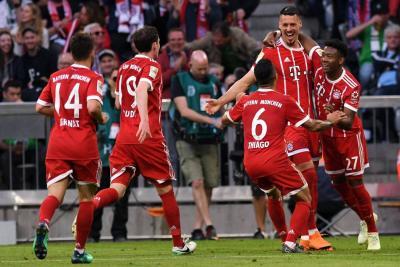 Bayern goleó al Mönchengladbach y sigue de fiesta en la Bundelisga