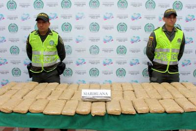 Incautan $220 millones de marihuana  tipo cripy en una 'narcoencomienda'