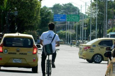 Así avanza la primera jornada del día sin carro en Barrancabermeja