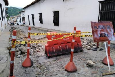 Reposición del empedrado en casco antiguo de Girón durará dos meses