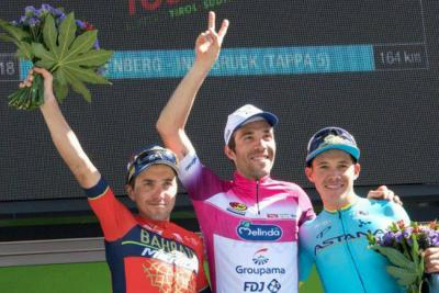 Miguel Ángel López se subió en el podio del Tour de los Alpes