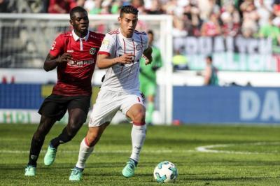 Con James en la cancha, el Bayern Munich goleó 3-0 al Hannover