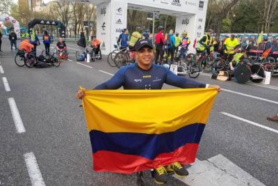 El colombiano Francisco Sanclemente ganó Maratón de Madrid en sillas atléticas