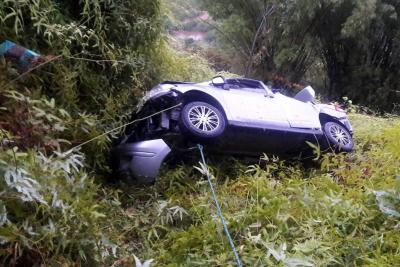Dos heridos dejó accidente de tránsito en la vía a Ruitoque Condominio