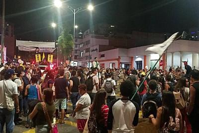 Universitarios marcharon en Bucaramanga para exigir calidad en la educación