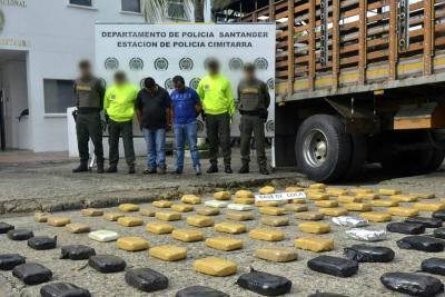 Incautan en Santander cargamento de cocaína avaluado en $1.500 millones
