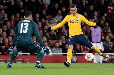 Arsenal del colombiano David Ospina empató con Atlético de Madrid en Liga de Europa