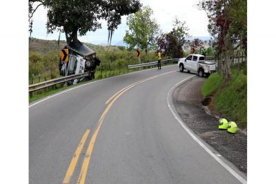 Cuatro vehículos se vieron involucrados en un accidente de tránsito