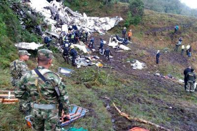 Accidente del avión de Lamia fue por falta de combustible: Aerocivil