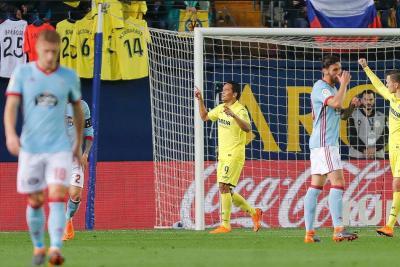 Con triplete de Bacca, el  Villarreal triunfó 4-1 sobre Celta