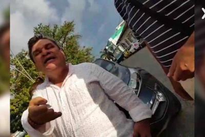 Un video captó a concejal alegando porque le impartían 'comparendo'