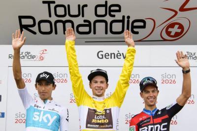 Egan Bernal es subcampeón del Tour de Romandía