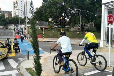 Eliminarán dos giros vehiculares para darle seguridad a ciclorruta en Bucaramanga