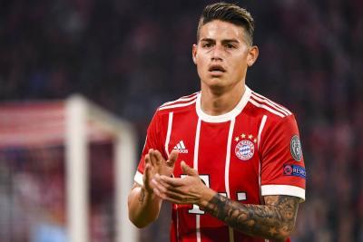 Bayern partió con James Rodríguez para enfrentar al Real Madrid en Liga de Campeones