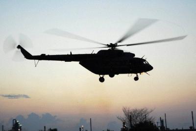 Murió policía tras ser impactado por la hélice de un helicóptero en Santander