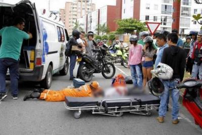 Murió motociclista que se había accidentado en la Autopista a Floridablanca