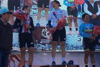 Santandereana Ana Cristina Sanabria ganó medalla de bronce en Panamericano de Ciclismo