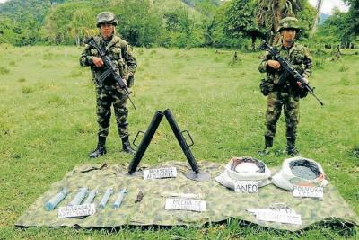 Ejército halla material  de guerra del Eln