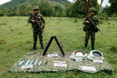 Hallan material de guerra del Eln en sur de Bolívar
