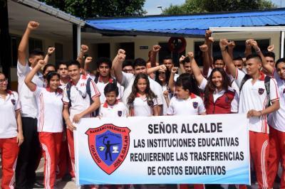 La protesta se tomó el sector educativo oficial