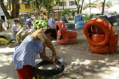 Ejemplo ambiental en el barrio Santa Cruz