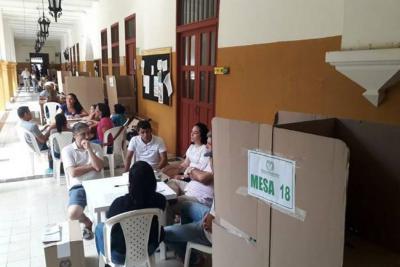 Con normalidad transcurren elecciones atípicas de Cartagena