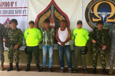 Capturan a cuatro disidentes de las Farc, entre ellos el hermano de alias 'Calarca'