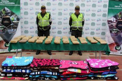 Incautados 18.000 gramos de marihuana tipo cripy en Floridablanca