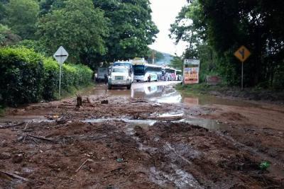El domingo cayó en Piedecuesta el agua que llueve en Bucaramanga en una semana