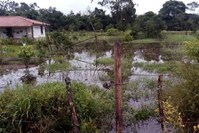 Lluvia dejó daños  en cinco veredas