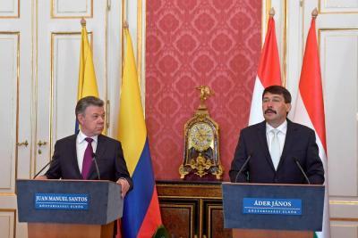 Presidente Santos está en Hungría para fortalecer las relaciones bilaterales