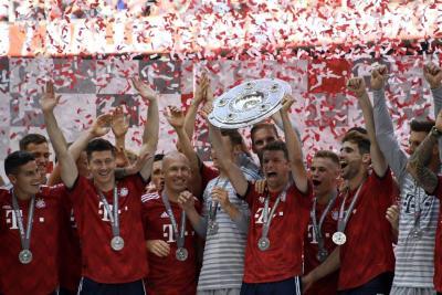 Así celebró James el título de la Bundesliga