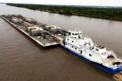 Continúa aumento en movilidad de carga en el río Magdalena