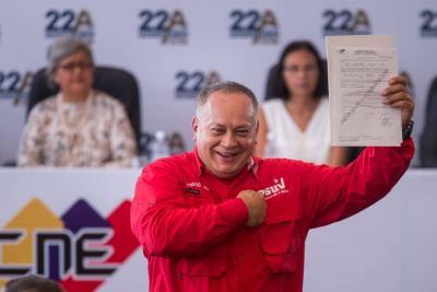 EEUU impuso sanciones contra el dirigente venezolano Diosdado Cabello