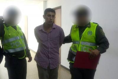 Joven fue enviado a la cárcel tras atracar a una docente en Girón