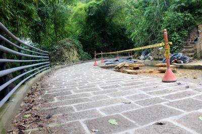 Se reactivó mantenimiento de  la vía al Cerro del Santísimo