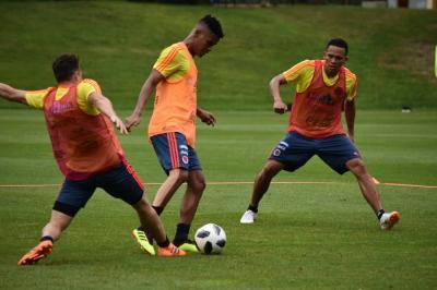 La selección Colombia entrena con la mente puesta en Egipto