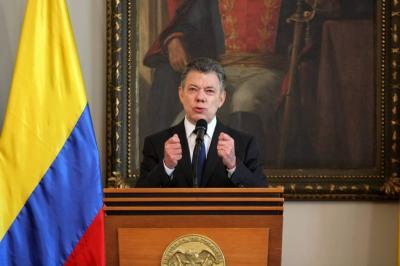 Santos dice que espera dejar 'acuerdo marco' con el Eln