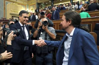 Pedro Sánchez fue elegido nuevo presidente del Gobierno español